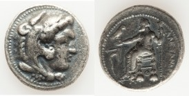 MACEDONIAN KINGDOM. Alexander III the Great (336-323 BC). AR tetradrachm (27mm, 16.69 gm, 5h). Fine, porosity. Lifetime issue of Tarsus, ca. 327-323 B...