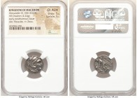 MACEDONIAN KINGDOM. Alexander III the Great (336-323 BC). AR drachm (17mm, 4.24 gm, 10h). NGC Choice AU S 5/5 - 5/5. Posthumous issue of Lampsacus, ca...