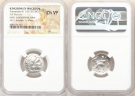 "MACEDONIAN KINGDOM. Alexander III the Great (336-323 BC). AR drachm (18mm, 1h). NGC Choice VF. Early posthumous issue of ""Colophon,"" ca. 323-319 BC. H..."
