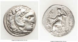 MACEDONIAN KINGDOM. Alexander III the Great (336-323 BC). AR drachm (18mm, 4.18 gm, 11h). XF. Posthumous issue under Lysimachus of Thrace, Colophon, c...