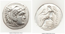 MACEDONIAN KINGDOM. Alexander III the Great (336-323 BC). AR drachm (19mm, 4.16 gm, 11h). XF. Posthumous issue of Lampsacus, ca. 310-301 BC. Head of H...