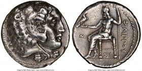 MACEDONIAN KINGDOM. Philip III Arrhidaeus (323-317 BC). AR tetradrachm (26mm, 12h). NGC VF. Lifetime issue of Sidon, dated Regnal Year 13 of Abdalonym...
