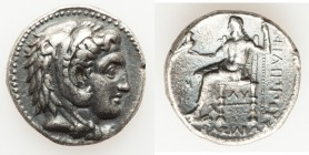 MACEDONIAN KINGDOM. Philip III Arrhidaeus (323-317 BC). AR tetradrachm (26mm, 16.74 gm, 1h). Choice VF, Fine Style. Babylon. Head of Heracles right, w...
