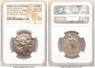 THRACIAN ISLANDS. Thasos. Ca. 2nd-1st centuries BC. AR tetradrachm (30mm, 15.80 gm, 11h). NGC Choice XF 5/5 - 5/5. Ca. 148-90/80 BC. Head of Dionysus ...