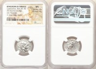 THRACIAN KINGDOM. Lysimachus (305-281 BC). AR drachm (20mm, 4.26 gm, 12h). NGC MS 4/5 - 4/5. Posthumous issue of 'Colophon' in the name and types of A...