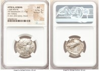 ATTICA. Athens. Ca. 440-404 BC. AR tetradrachm (23mm, 17.19 gm, 2h). NGC AU 5/5 - 5/5. Mid-mass coinage issue. Head of Athena right, wearing crested A...