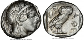 ATTICA. Athens. Ca. 440-404 BC. AR tetradrachm (23mm, 17.21 gm, 2h). NGC Choice XF 4/5 - 4/5, brushed. Mid-mass coinage issue. Head of Athena right, w...