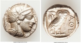 ATTICA. Athens. Ca. 440-404 BC. AR tetradrachm (24mm, 17.19 gm, 1h). About XF. Mid-mass coinage issue. Head of Athena right, wearing crested Attic hel...