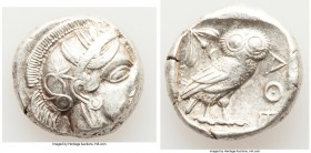 ATTICA. Athens. Ca. 440-404 BC. AR tetradrachm (23mm, 17.20 gm, 6h). VF. Mid-mass coinage issue. Head of Athena right, wearing crested Attic helmet or...
