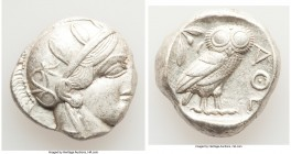 ATTICA. Athens. Ca. 440-404 BC. AR tetradrachm (23mm, 17.20 gm, 9h). Choice XF. Mid-mass coinage issue. Head of Athena right, wearing crested Attic he...