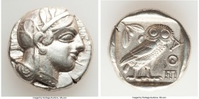 ATTICA. Athens. Ca. 440-404 BC. AR tetradrachm (24mm, 17.18 gm, 10h). XF. Mid-mass coinage issue. Head of Athena right, wearing crested Attic helmet o...
