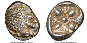 IONIA. Miletus. Ca. late 6th-5th centuries BC. AR 1/12 stater or obol (10mm, 1.21 gm). NGC MS 4/5 - 5/5. Milesian standard. Forepart of roaring lion l...