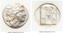 LYCIAN LEAGUE. Masicytes. Ca. 48-20 BC. AR hemidrachm (15mm, 1.96 gm, 12h). Choice XF. Series 1. Laureate head of Apollo right; Λ-Y below / M-A, citha...