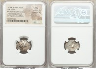 LYCIAN LEAGUE. Masicytes. Ca. 48-20 BC. AR hemidrachm (18mm, 2.02 gm, 1h). NGC MS 5/5 - 4/5. Series 1. Laureate head of Apollo right; Λ-Y below / M-A,...