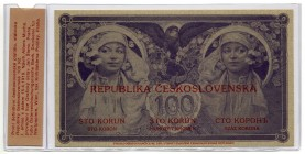 Czechoslovakia 100 Korun 1919 Official Reprint