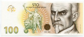 "Czech Republic Commemorative Banknote ""100th Anniversary of the Czechoslovak Crown"" 2019 (2020) NEW RARE