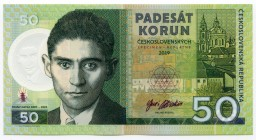 "Czech Republic 50 Korun 2019 Specimen ""Franz Kafka""