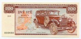 "Czech Republic 200 Korun 2019 Specimen ""Škoda 850""