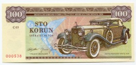"Czech Republic 100 Korun 2020 Specimen ""Isotta Fraschini Tipo 8A 1929""