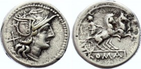 Roman Republic AR Denarius 179 -170 B.C.