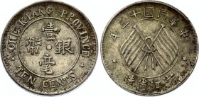 China Chekiang 10 Cents 1924 (13)