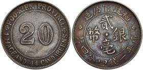 China Fukien 20 Cents 1923