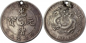 China Kirin 1 Dollar 1904 Rare
