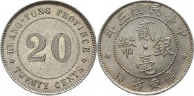 China Kwangtung 20 Cents 1914