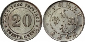 China Kwangtung 20 Cents 1921