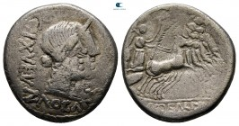 Eastern Europe. Imitations of Roman Republican. Geto-Dacians circa 150-0 BC. Denarius AR