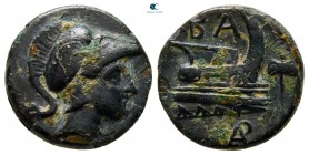 Kings of Macedon. Uncertain mint. Demetrios I Poliorketes 306-283 BC. Bronze Æ