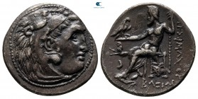 Kings of Thrace. Kolophon. Macedonian. Lysimachos 305-281 BC. In the name and types of Alexander III. Drachm AR