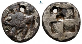 Islands off Thrace. Thasos 412-404 BC. Fourrée Drachm