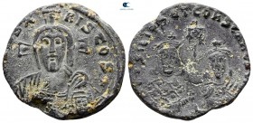 "Basil I the Macedonian, with Constantine AD 867-886. Struck circa 868-879 AD. Constantinople. Æ Pattern ""Solidus"""