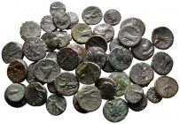 Lot of ca. 50 greek bronze coins / SOLD AS SEEN, NO RETURN!very fine