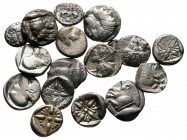 Lot of ca. 16 greek silver fractions / SOLD AS SEEN, NO RETURN!very fine