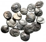 Lot of ca. 16 greek silver fractions / SOLD AS SEEN, NO RETURN!nearly very fine