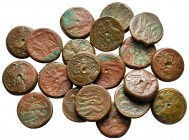 Lot of ca. 20 greek bronze coins / SOLD AS SEEN, NO RETURN!nearly very fine