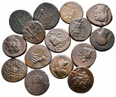 Lot of ca. 15 greek bronze coins / SOLD AS SEEN, NO RETURN!good very fine
