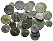 Lot of ca. 26 roman provincial bronze coins / SOLD AS SEEN, NO RETURN!very fine