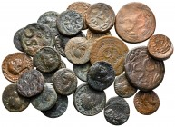 Lot of ca. 27 roman provincial bronze coins / SOLD AS SEEN, NO RETURN!nearly very fine