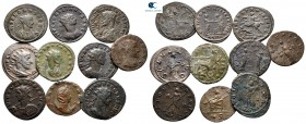 Lot of ca. 10 roman bronze coins / SOLD AS SEEN, NO RETURN! very fine