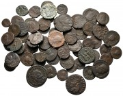 Lot of ca. 65 late roman bronze coins / SOLD AS SEEN, NO RETURN! very fine