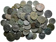 Lot of ca. 69 late roman bronze coins / SOLD AS SEEN, NO RETURN!very fine