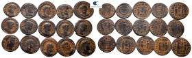 Lot of ca. 15 late roman bronze coins / SOLD AS SEEN, NO RETURN!very fine
