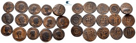 Lot of ca. 15 late roman bronze coins / SOLD AS SEEN, NO RETURN!nearly very fine