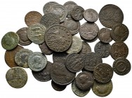Lot of ca. 40 late roman bronze coins / SOLD AS SEEN, NO RETURN!nearly very fine