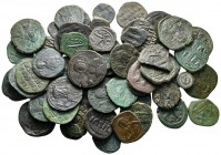 Lot of ca. 56 byzantine bronze coins / SOLD AS SEEN, NO RETURN!very fine