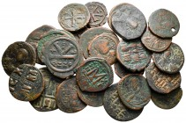 Lot of ca. 25 byzantine bronze coins / SOLD AS SEEN, NO RETURN!very fine
