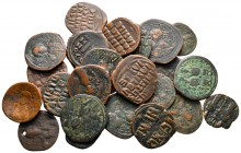 Lot of ca. 24 byzantine bronze coins / SOLD AS SEEN, NO RETURN!very fine